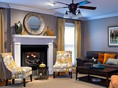 Transitional Living-rooms
