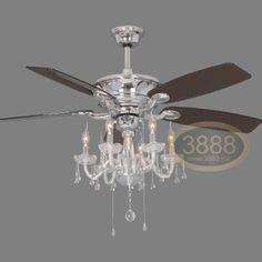 ceiling fan lights fashion brief modern crystal ceiling fan light. Black Bedroom Furniture Sets. Home Design Ideas
