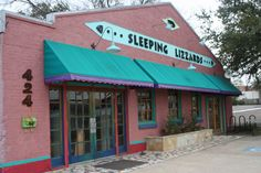 Sleeping Lizzard's, business on Elm Street just north of the square.  Denton, Tx
