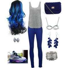 """""""School Day"""" by elinanishimwe on Polyvore  cheap air jordan 5 only $60, save up to 59% off for all #Nikes #Shoes"""