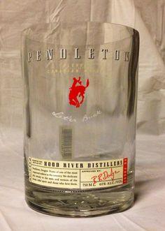 Pendleton Whiskey Liquor Bottle Vase. Recycled Glass Bottle. on Etsy, $20.00