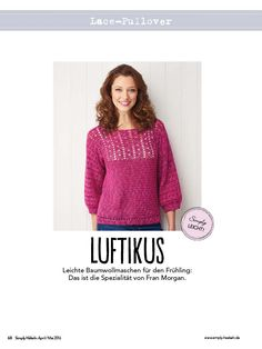 Häkelanleitung: Pinker Pullover