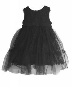 lace dress with tulle black