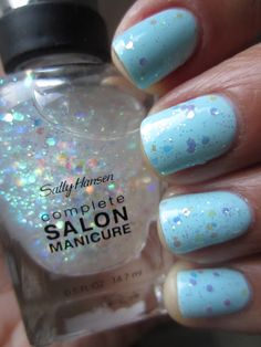 Sally Hansen Complete Salon Manicure Snow Globe over Barracuda