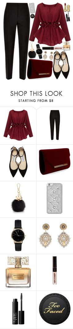 """Untitled #770"" by natallie ❤ liked on Polyvore featuring Jaeger, Jimmy Choo, Furla, MICHAEL Michael Kors, Freedom To Exist, Miguel Ases, Givenchy and NARS Cosmetics"