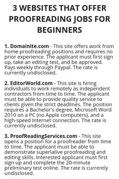 3 WEBSITES THAT OFFER PROOFREADING JOBS FOR BEGINNERS - Wisdom Lives Here