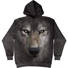 The Mountain Adult Unisex T-Shirt - Black And White Wolf Face White Wolf, Black And White, Gray Wolf, Wolf 3d, Big Wolf, Black Tops, Hunter Dog, Wolf Face, Funny Animals