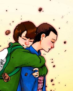 Mike Wheeler and Eleven from Stranger Things