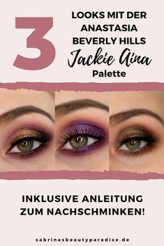 3 Augen Make Up's / Looks mit der ABH x Jackie Aina Palette. Inklusive Step by Step Make Up Tutorial zum Nachschminken. Lasst Euch von diesen Looks zu weiteren tollen Lidschatten-Kombinationen inspirieren. #abh #jackieaina #sabrinasbeautyparadise