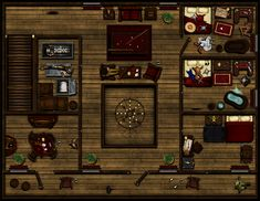 Hard Knocks Saloon and Brothel Floor by Sadizzm on DeviantArt Fantasy Map, Medieval Fantasy, West Map, Dungeons And Dragons 5, Cowboys & Aliens, Pen And Paper Games, Map Sketch, Building Map, Dungeon Maps