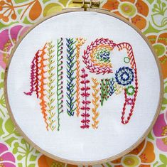 Knotted feather stitch sampler for TAST2013 | Flickr: Intercambio de fotos