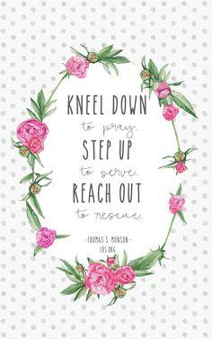 """Kneel down to pray."