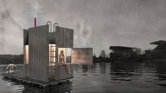 a floating sauna in seattle designed by goCstudio's and financed thru kickstarter crowdfunding. The floating sauna in Seattle will be afloat this summer Saunas, Architecture Design, Floating Architecture, Seattle Architecture, Architecture Graphics, Sauna House, Tyni House, Mini Sauna, Living Pool