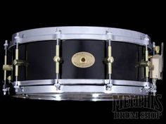 Noble & Cooley 14 x 5 SS Classic Maple Snare Drum - Black Gloss