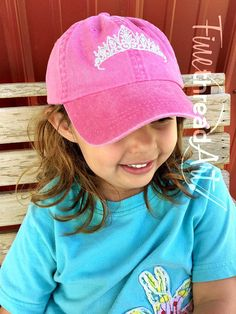 c0861330021 KIDS Princess Tiara Queen Crown Baseball Cap Hat Leather Strap Dad Hat  Youth Child Girl Children
