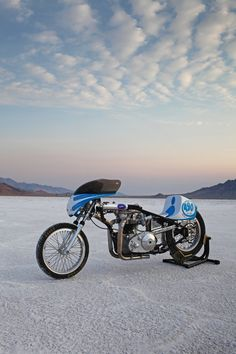 Low Brow Customs 1967, 650cc Triumph Land Speed Bike ~ Return of the Cafe Racers