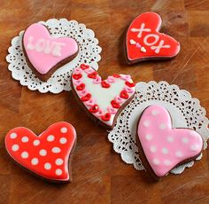 Chocolate Valentines Cookies