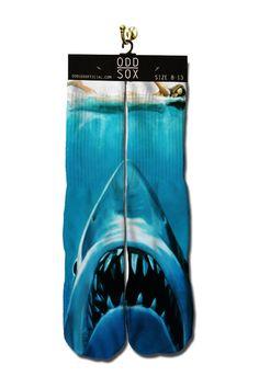 Shark Attack Crew Sock