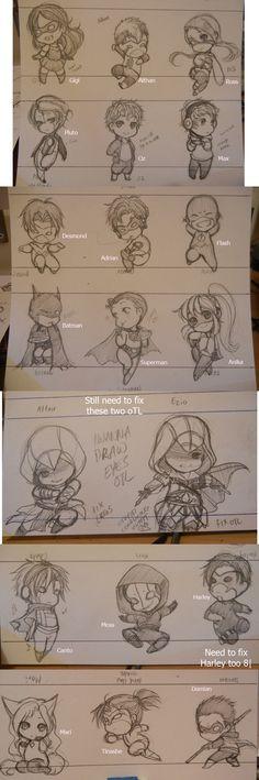 chibi superheroes. kisukaite.