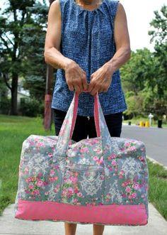 8f550c294c Free Sewing Pattern  Vera Bradley Inspired Carryon Duffel Bag