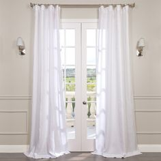 Choose from a large selection of products including Half Price Drapes Signature Antique Lace French Linen Sheer Curtain Specs Only Savings Extended! Buy Now & Save You Pick The Savings Linen Sheer Curtain Shop online Now! Sheer Linen Curtains, Sheer Curtain Panels, Pleated Curtains, Panel Curtains, Bedroom Curtains, White Curtains, Wainscoting Bedroom, Wainscoting Ideas, Country Curtains