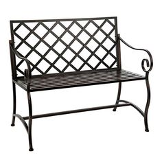 Bronze Metal Outdoor Bench | Kirklands