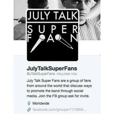 July Talk Superfans @july_talk_superfans Instagram photos | Websta (Webstagram)