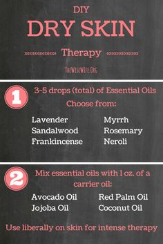 Essential Oils for Dry Skin. Soothe dry winter skin with this easy, DIY, mix and match guide.