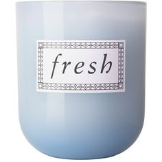 Fresh 'Sugar Lemon' Candle (73 CAD) ❤ liked on Polyvore featuring home, home decor, candles & candleholders, fillers, candles, blue fillers, simple set fillers, blue candles, flower scented candles and flower stem