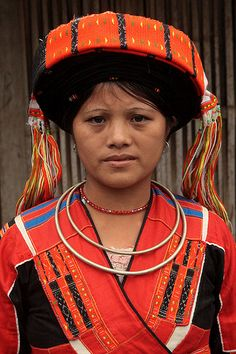Pa Then tribal woman Concentrated in communes of Ha Giang and Tuyen Quang provinces.