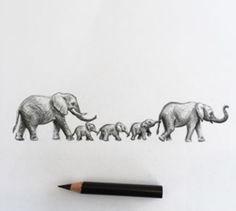 Elephants + Family un breakable bond Elephant Family Tattoo, Elephant Tattoo Design, Elephant Love, Elephant Art, Elephant Tattoos, Baby Tattoos, Tattoos For Kids, Tattoos For Daughters, Body Art Tattoos