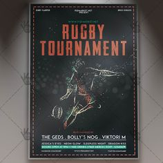 Rugby Tournament - Premium Flyer PSD Template. #arena #athlete #ball #bowl #championship #college #competition #flame #game #grass #match #player #rugby #sport #stadium #tournament #trophy DOWNLOAD PSD TEMPLATE HERE: https://www.psdmarket.net/shop/rugby-tournament-premium-flyer-psd-template/ MORE FREE AND PREMIUM PSD TEMPLATES: https://www.psdmarket.net/shop/