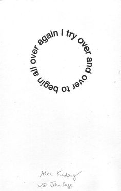 """""""33 circle poem (i try to begin)"""" by alec finlay"""