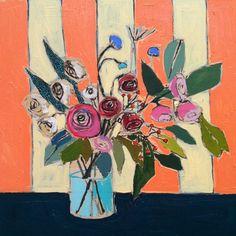 Lulie Wallace; big beautiful saturated florals! via design sponge.