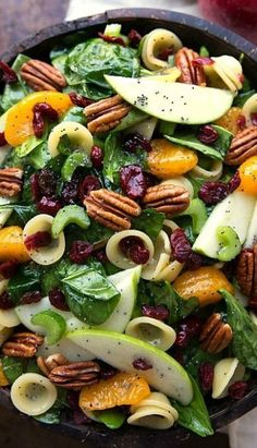 Looking for Fast & Easy Appetizer Recipes, Fall / Halloween Recipes, Pasta Recipes, Side Dish Recipes, Vegetarian Recipes! Recipechart has over free recipes for you to browse. Find more recipes like Autumn Crunch Pasta Salad. Pasta Salad Recipes, Healthy Salad Recipes, Vegetarian Recipes, Cooking Recipes, Veggie Pasta Salads, Autumn Pasta Recipes, Healthy Pasta Salad, Vegetable Pasta, Tomato Salad