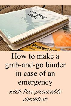 If you ever have to evacuate your home in a hurry you'll appreciate having your important documents in one easy-to-grab place: your emergency binder. Here's how to make one, with a printable checklist so you won't forget anything. Family Emergency Binder, In Case Of Emergency, Emergency Preparedness Binder Printables, Bug Out Bag, Disaster Preparedness, Survival Prepping, Hurricane Preparedness, Hurricane Emergency Kit, Survival Gadgets