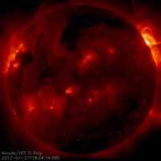 Large X-class Flare Erupts on the Sun (NASA, Hinode, 01/27/12)