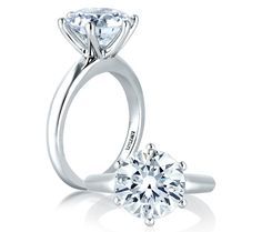 A. Jaffe Classic 6-Prong Solitaire Engagement Ring