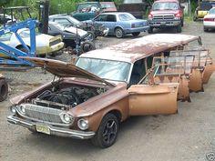 57 dodge wagon | 1962 Dodge Dart Limo-wagon with 8 doors & V10 truck engine ...