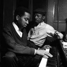 Rudy Van Gelder Sidney Bechet Alfred Lion and Thelonious Monk Eric Dolphy and Kenny Dorham Sonny Clark and Philly Joe Jones Cliff. Jazz Artists, Jazz Musicians, Music Artists, Kenny Dorham, Eric Dolphy, Francis Wolff, Hard Bop, Thelonious Monk, Morning Sunrise