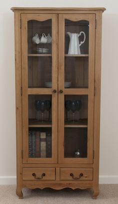 Grace Solid Oak Furniture Range Cabinet | Oak Glazed Display Unit Oak Furniture Land www.oakfurnitureland.co.uk