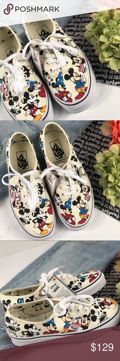 de5813723b2 Vans Disney lace up 90th anniversary shoes white