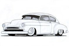 1949+Chevrolet+Fleetline+Custom+Coupe+Drawing+by+Vertualissimo.deviantart.com+on+@DeviantArt