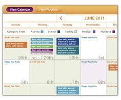 A shared calendar can help coparents organize all of the kids activities.
