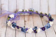 Plum flower crown Wedding hair wreath Wedding by LuckyKidsHandmade
