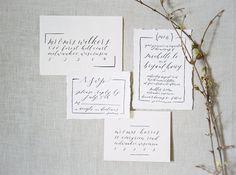 Customizable Calligraphy Wedding Invitation Suite - Fully Handwritten