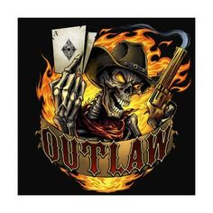 Custom logo design I created for Outlaw a racing company in Australia. This was an update of his existing logo that needed a complete re-imagining. The logo features a skeleton outlaw holding a smoking gun, and a 10 and 5 of diamonds. Crane, King Of Wands, Outlaw Racing, Harley Davidson Images, Ghost Rider Marvel, Skull Pictures, Skull Artwork, Skeleton Art, Skull Wallpaper