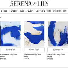 a few of my small resin abstracts now available through @serenaandlily and @atlantaartistcollective!   http://ift.tt/1LuHAgu  #blueandwhite #serenaandlily #modernstyle #abstractpainting #originalart #eclecticstyle #carriepenleyart