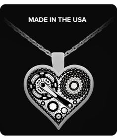 Cycling Heart Pendant Necklace  Worldwide Shipping!   Sterling silver plated, 18-inch pendant necklace made in the U.S.A. This UV resistant, waterproof, high quality necklace looks great on anyone! #cycling #cyclingnecklace #cyclingpendant