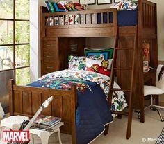 Sleeping amongst super heroes in Marvel's Avengers Duvet!